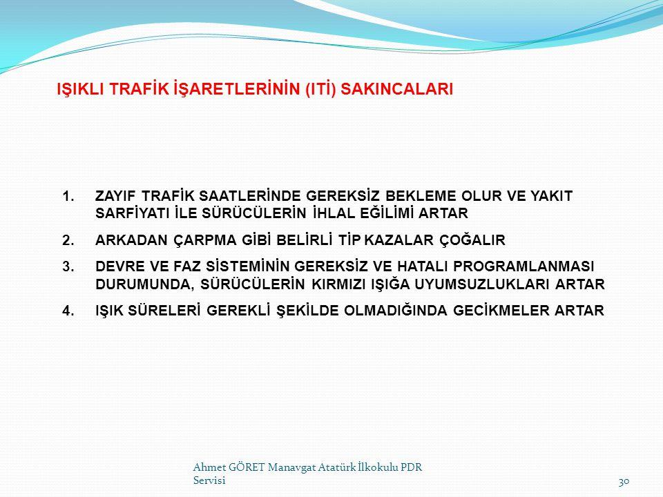 IŞIKLI TRAFİK İŞARETLERİNİN (ITİ) SAKINCALARI