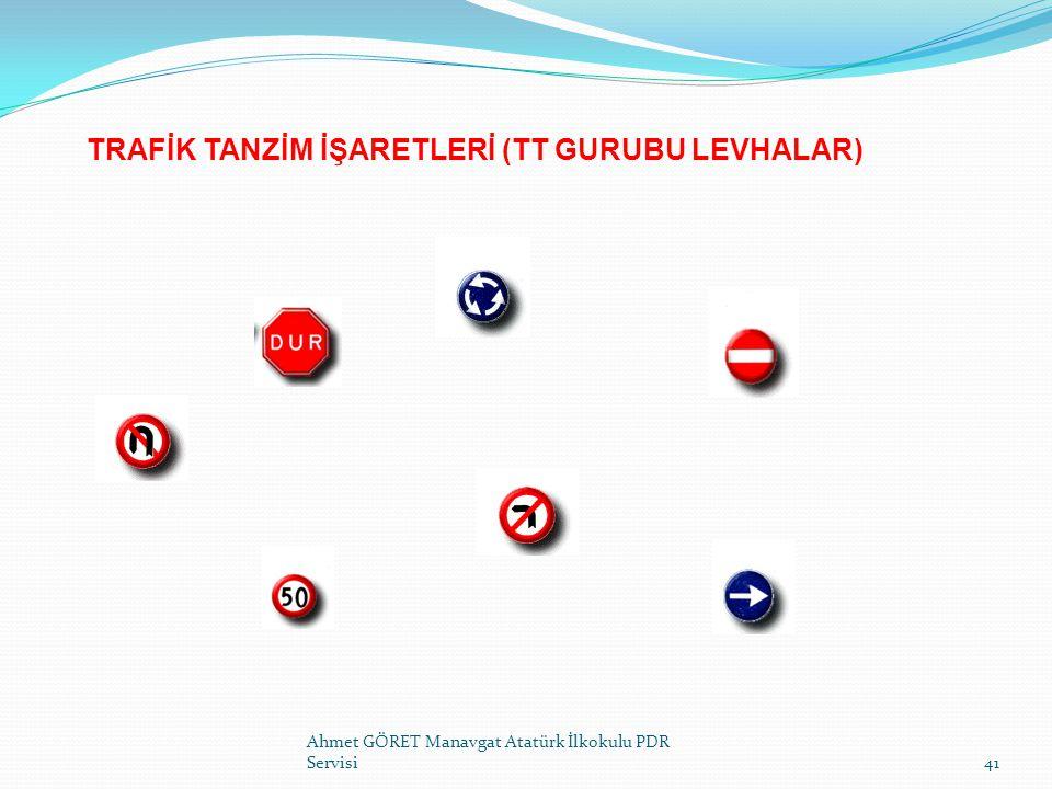 TRAFİK TANZİM İŞARETLERİ (TT GURUBU LEVHALAR)