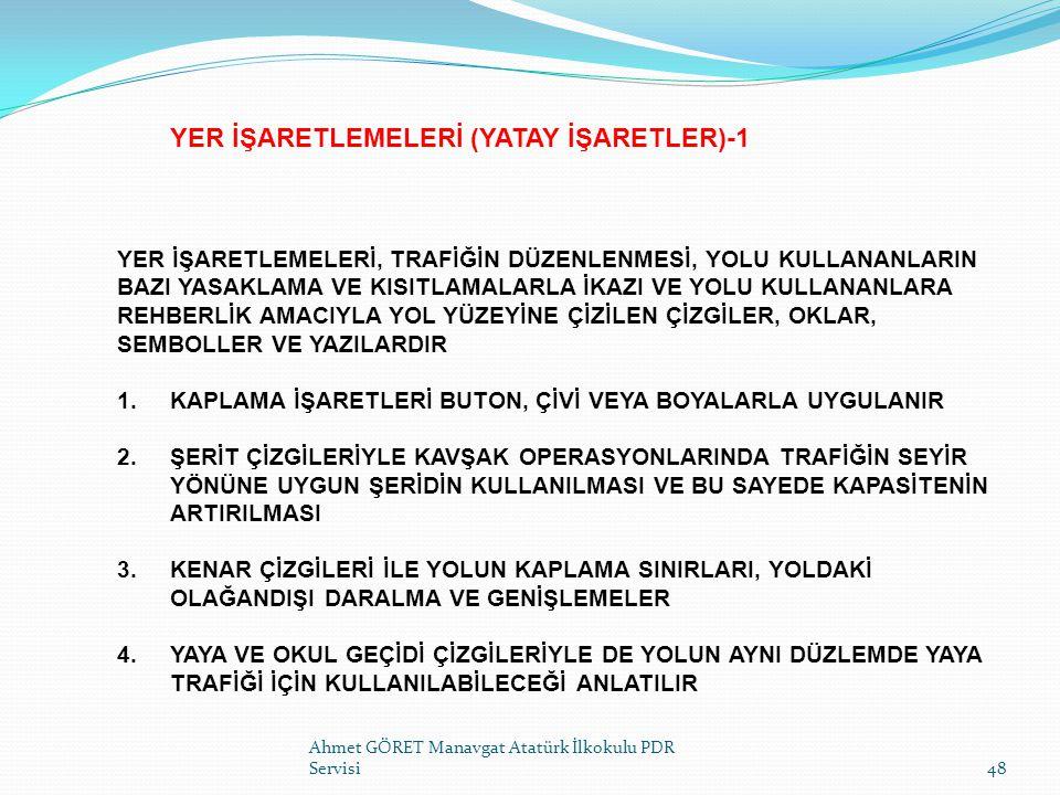 YER İŞARETLEMELERİ (YATAY İŞARETLER)-1