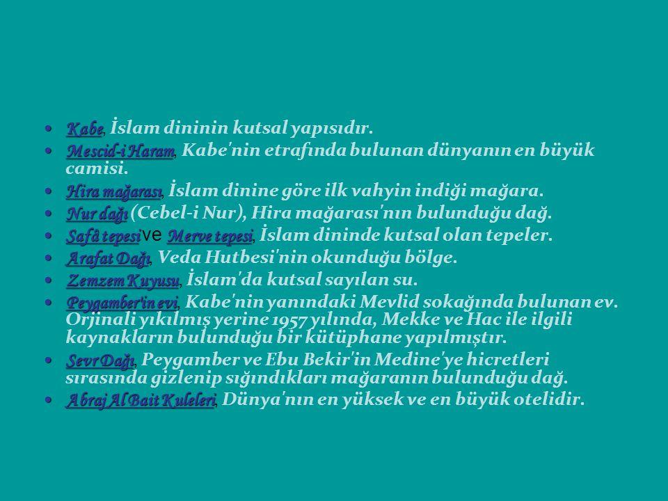 Kabe, İslam dininin kutsal yapısıdır.