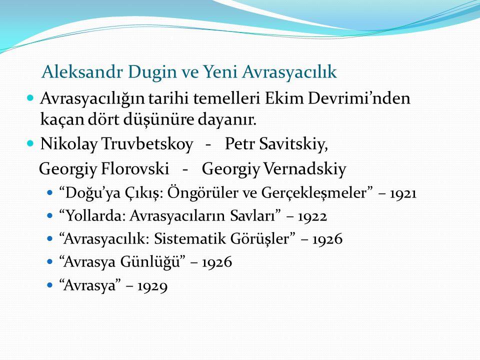 . Aleksandr Dugin ve Yeni Avrasyacılık