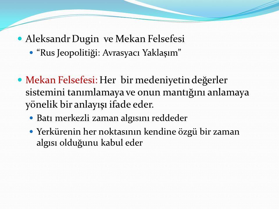. Aleksandr Dugin ve Mekan Felsefesi