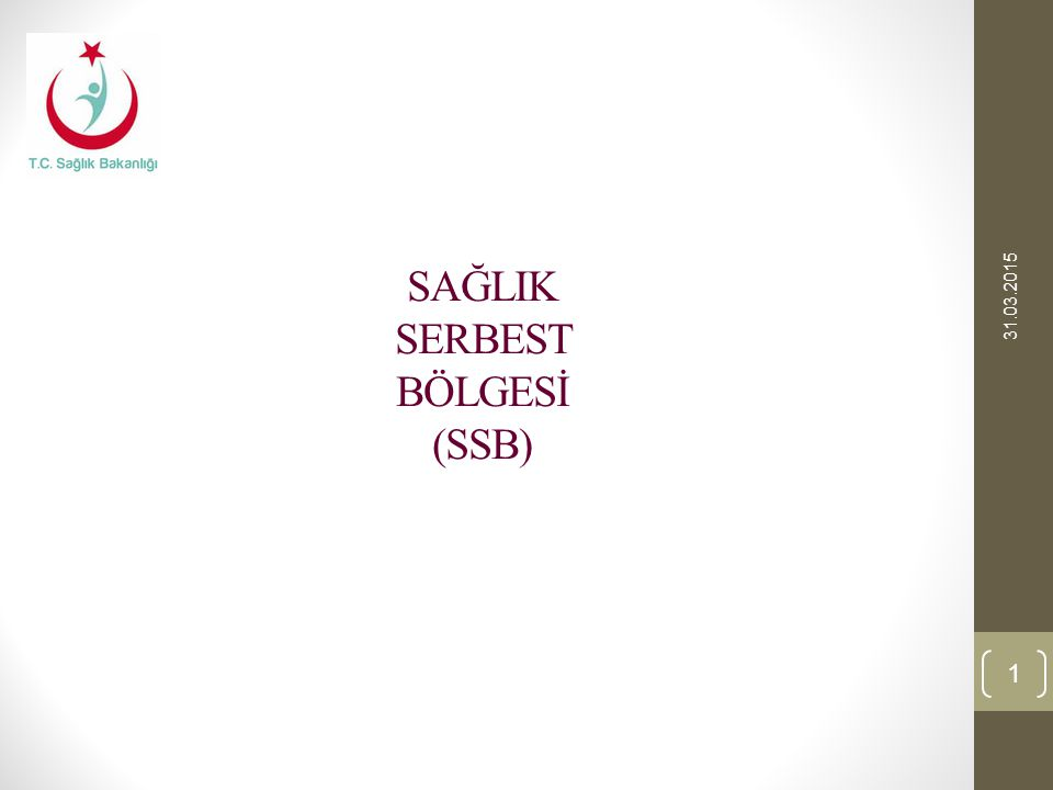 SAĞLIK SERBEST BÖLGESİ (SSB)