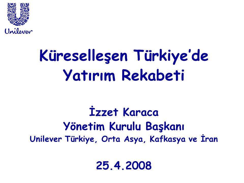 Küreselleşen Türkiye'de Yatırım Rekabeti İzzet Karaca Yönetim Kurulu Başkanı Unilever Türkiye, Orta Asya, Kafkasya ve İran 25.4.2008