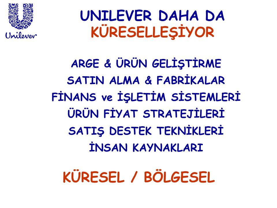 UNILEVER DAHA DA KÜRESELLEŞİYOR KÜRESEL / BÖLGESEL