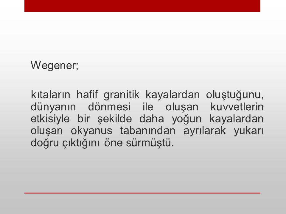 Wegener;