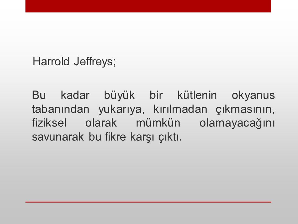 Harrold Jeffreys;