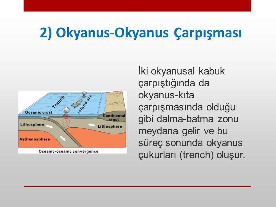 2) Okyanus-Okyanus Çarpışması