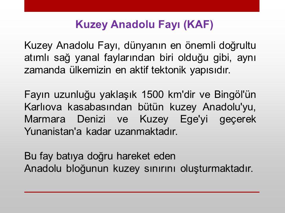 Kuzey Anadolu Fayı (KAF)
