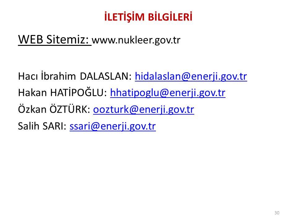WEB Sitemiz: www.nukleer.gov.tr