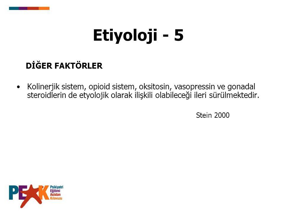 Etiyoloji - 5 DİĞER FAKTÖRLER