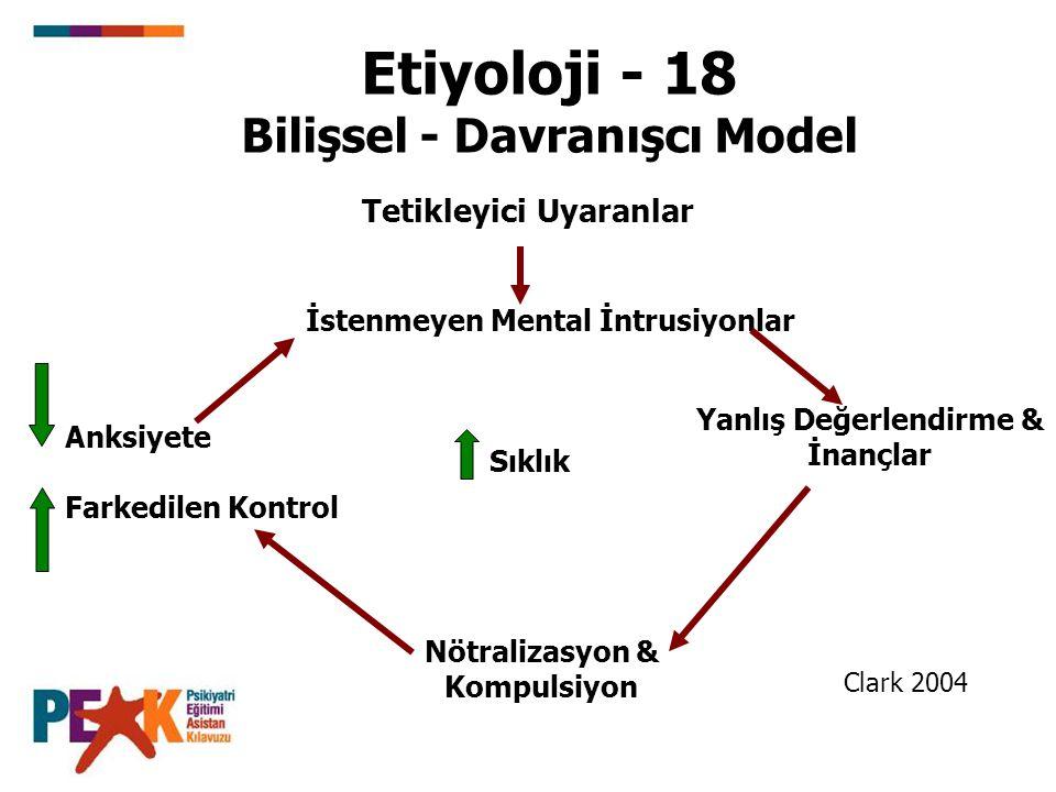 Etiyoloji - 18 Bilişsel - Davranışcı Model