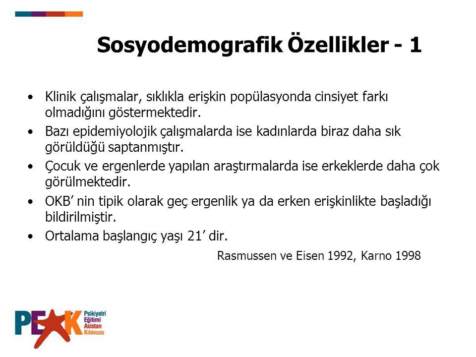 Sosyodemografik Özellikler - 1