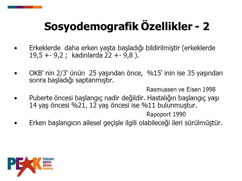 Sosyodemografik Özellikler - 2