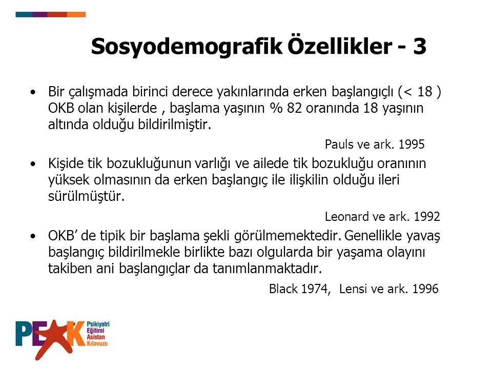 Sosyodemografik Özellikler - 3