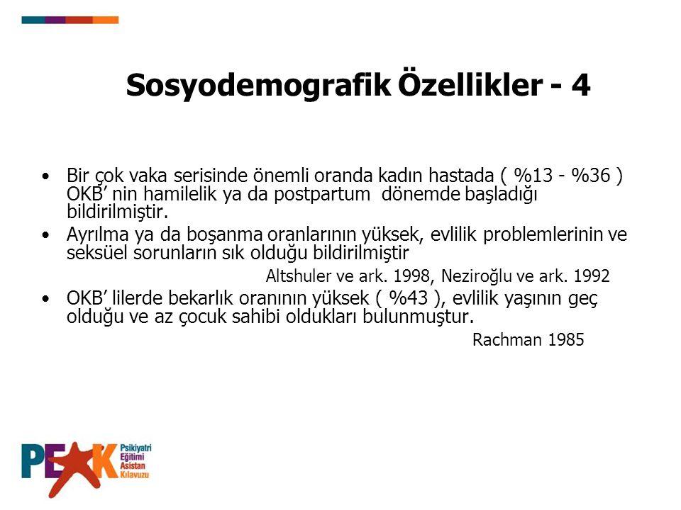 Sosyodemografik Özellikler - 4