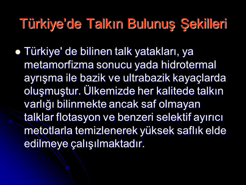 Türkiye'de Talkın Bulunuş Şekilleri