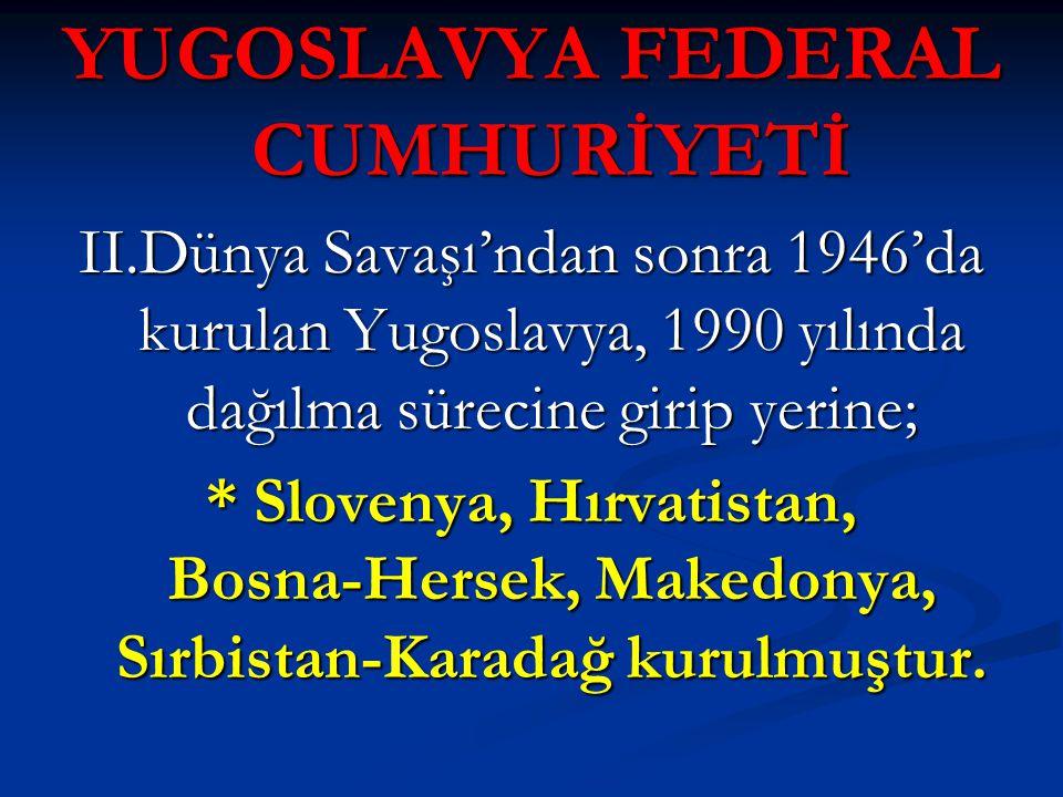 YUGOSLAVYA FEDERAL CUMHURİYETİ