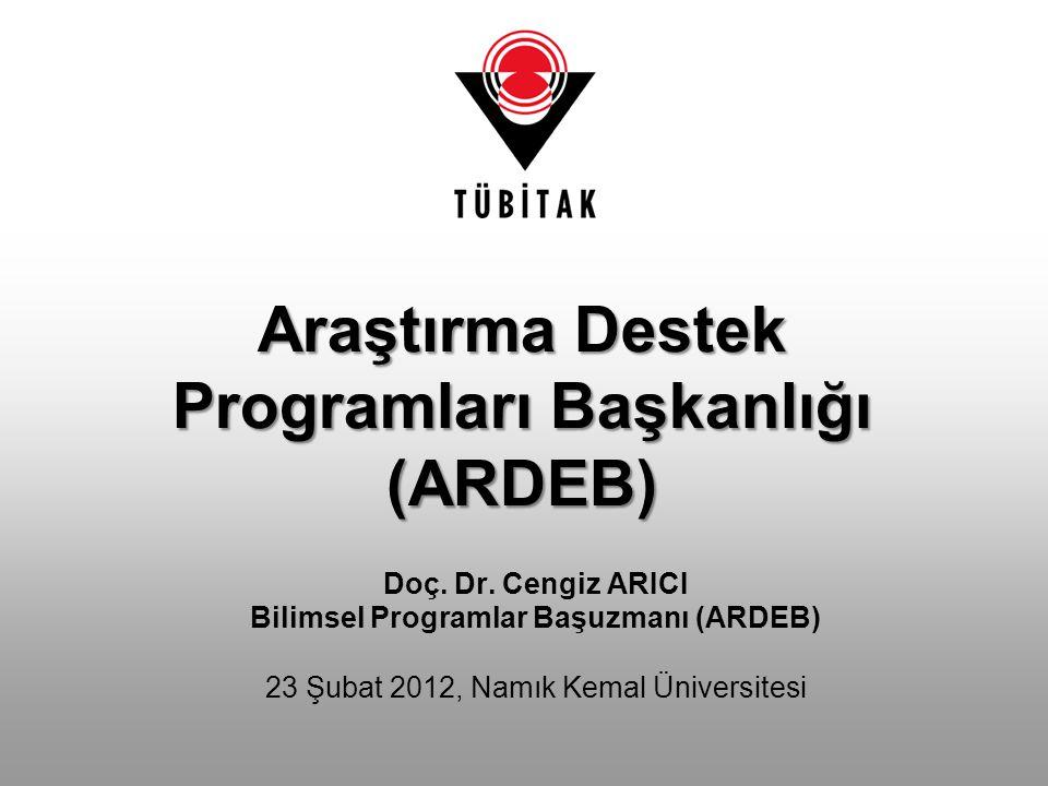 Araştırma Destek Programları Başkanlığı (ARDEB)