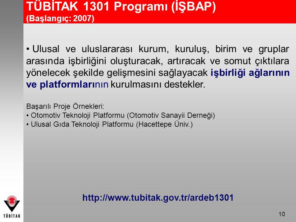 TÜBİTAK 1301 Programı (İŞBAP)