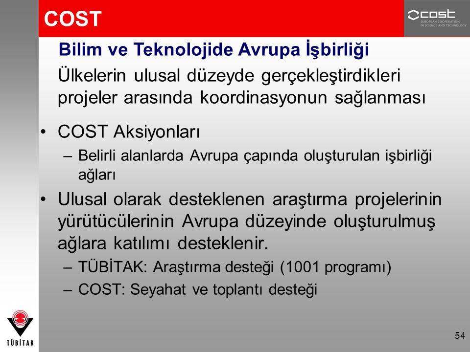 COST Bilim ve Teknolojide Avrupa İşbirliği