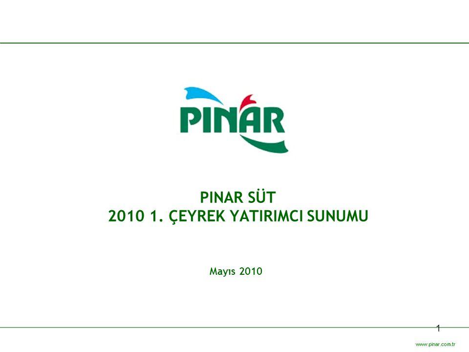 PINAR SÜT 2010 1. ÇEYREK YATIRIMCI SUNUMU
