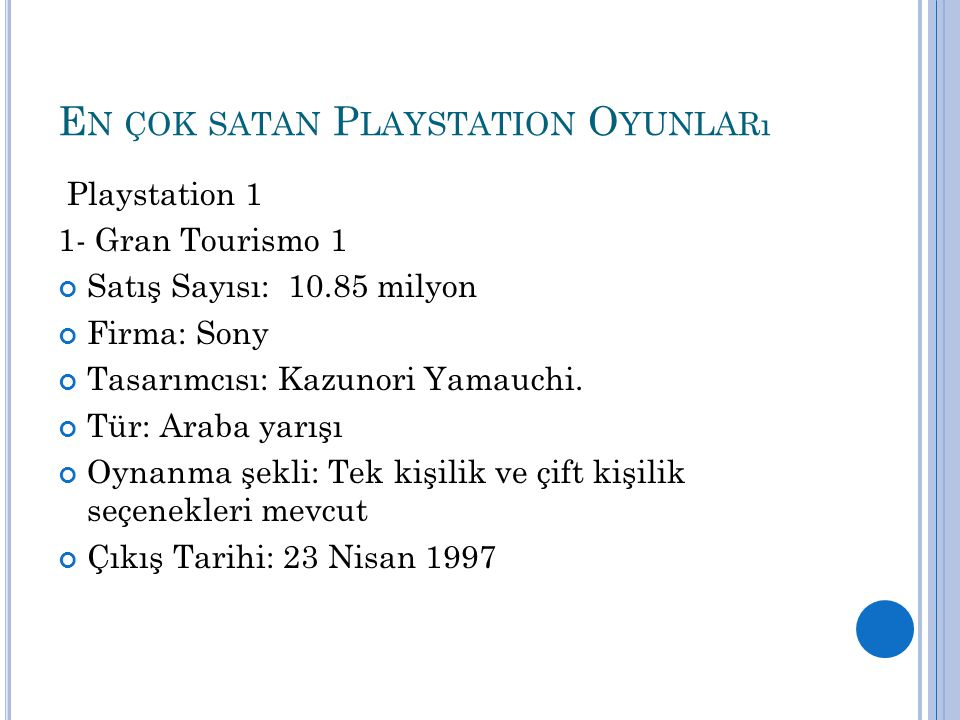 En çok satan Playstation Oyunları