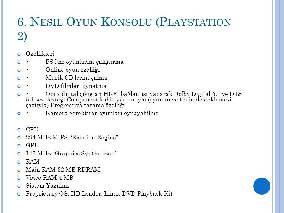 6. Nesil Oyun Konsolu (Playstation 2)