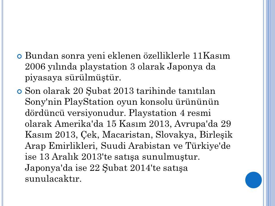 Bundan sonra yeni eklenen özelliklerle 11Kasım 2006 yılında playstation 3 olarak Japonya da piyasaya sürülmüştür.