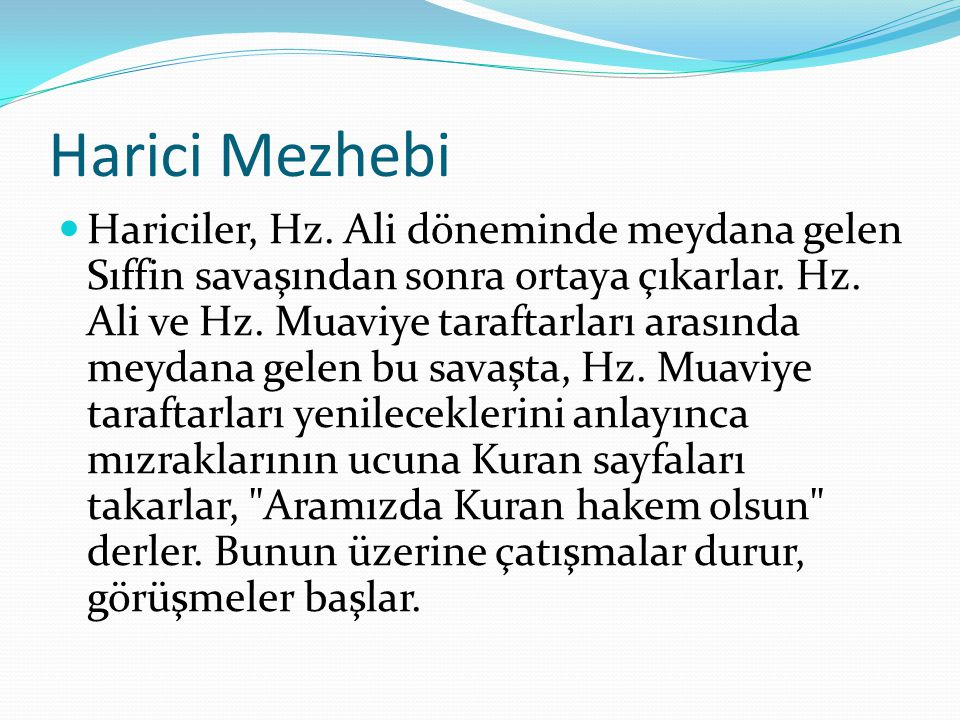 Harici Mezhebi
