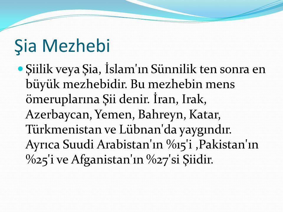Şia Mezhebi