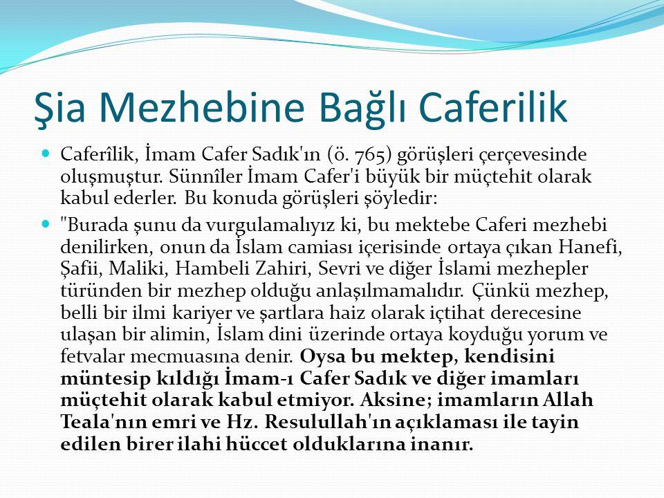 Şia Mezhebine Bağlı Caferilik