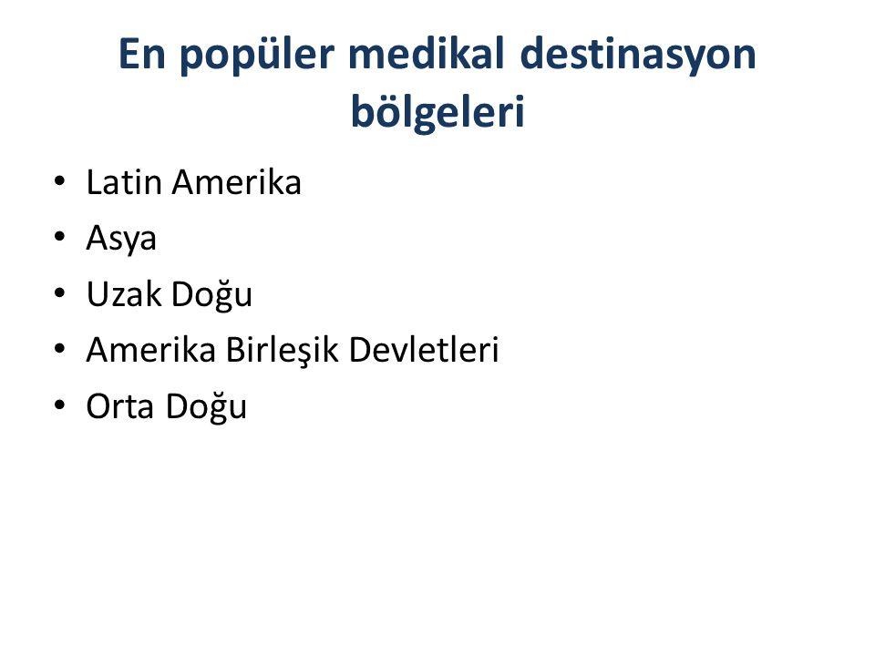 En popüler medikal destinasyon bölgeleri
