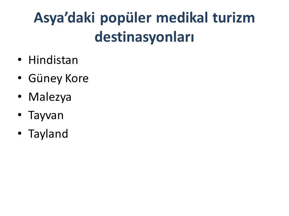 Asya'daki popüler medikal turizm destinasyonları