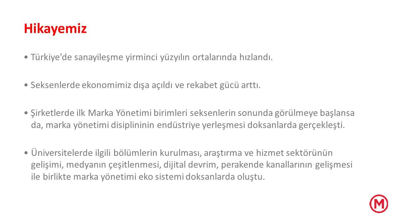Hikayemiz • Türkiye'de sanayileşme yirminci yüzyılın ortalarında hızlandı. • Seksenlerde ekonomimiz dışa açıldı ve rekabet gücü arttı.