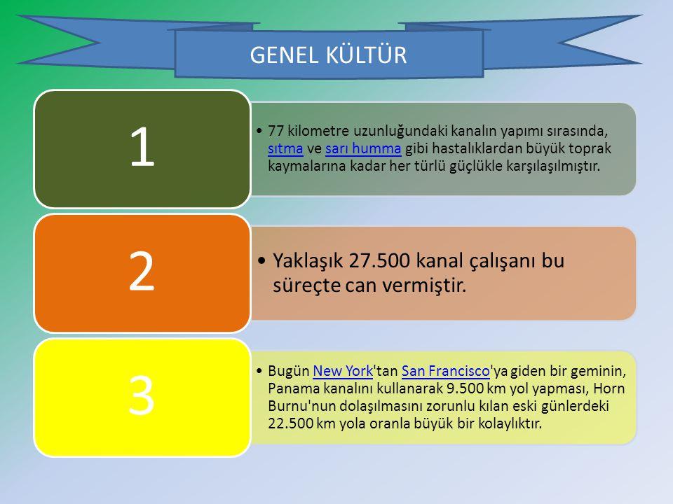 GENEL KÜLTÜR Yaklaşık 27.500 kanal çalışanı bu süreçte can vermiştir.