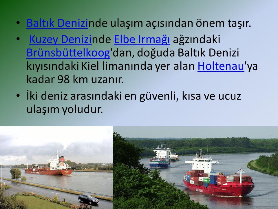 Baltık Denizinde ulaşım açısından önem taşır.