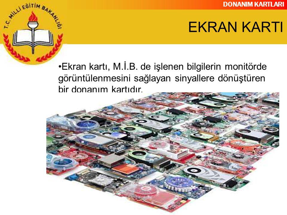 EKRAN KARTI Ekran kartı, M.İ.B.
