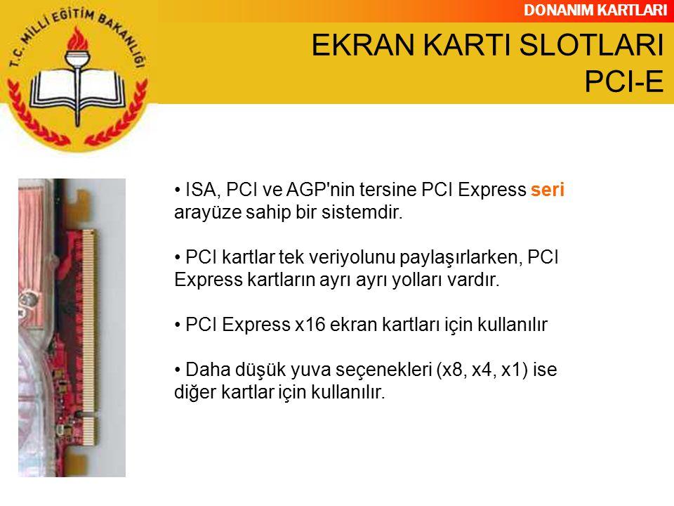 EKRAN KARTI SLOTLARI PCI-E