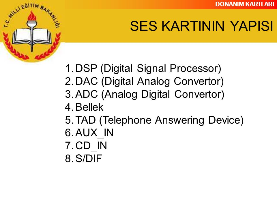 SES KARTININ YAPISI DSP (Digital Signal Processor)