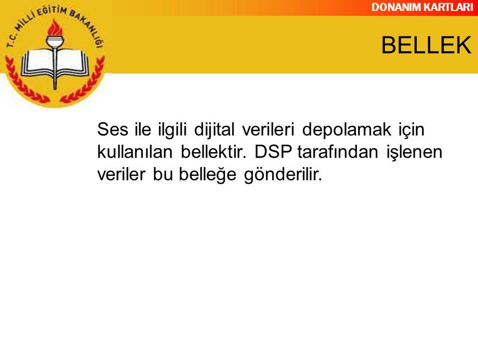 BELLEK Ses ile ilgili dijital verileri depolamak için kullanılan bellektir.
