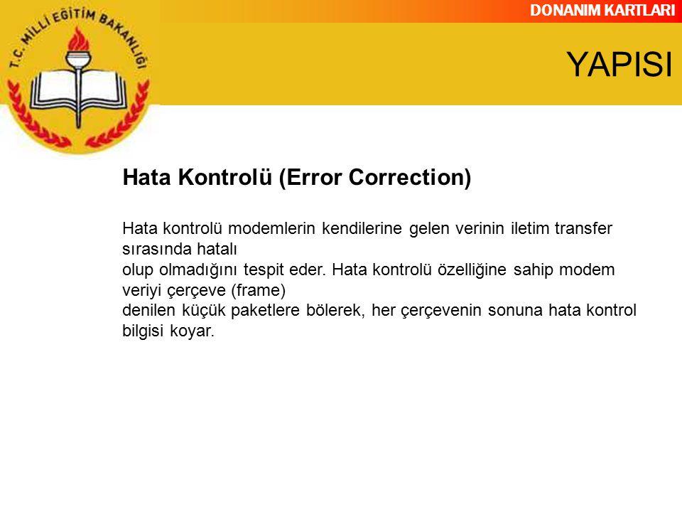 YAPISI Hata Kontrolü (Error Correction)