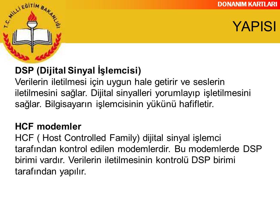 YAPISI DSP (Dijital Sinyal İşlemcisi)