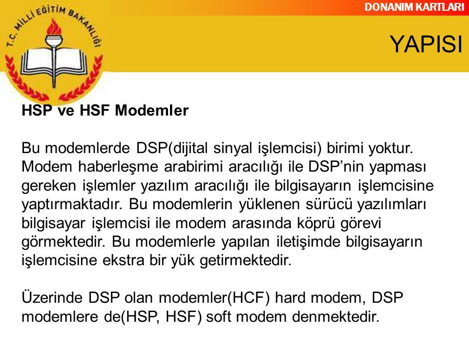 YAPISI HSP ve HSF Modemler