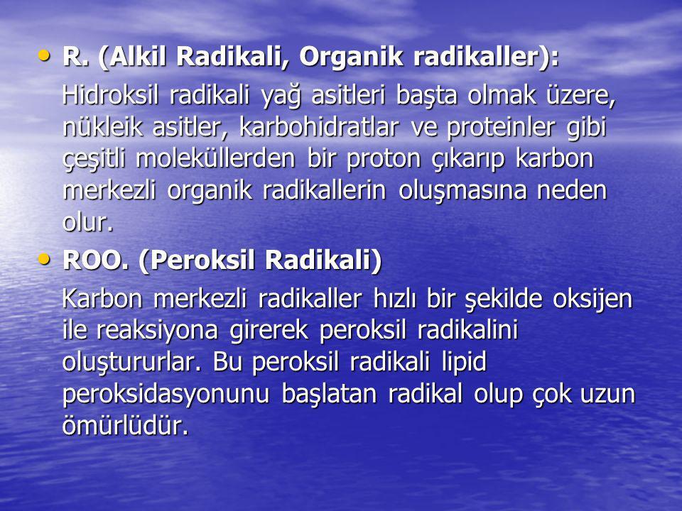 R. (Alkil Radikali, Organik radikaller):