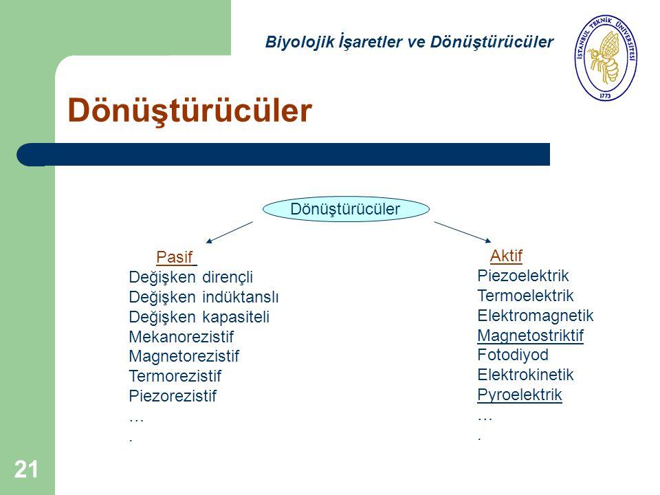 Dönüştürücüler Biyolojik İşaretler ve Dönüştürücüler Dönüştürücüler