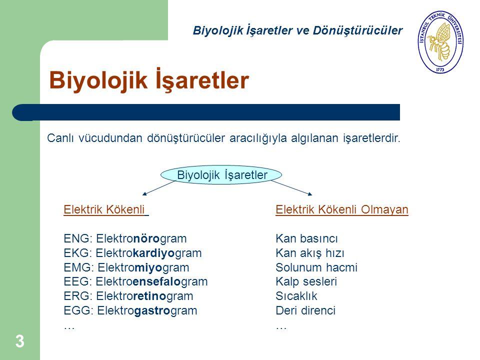 Biyolojik İşaretler Biyolojik İşaretler ve Dönüştürücüler