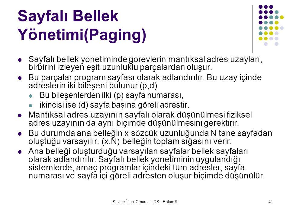 Sayfalı Bellek Yönetimi(Paging)