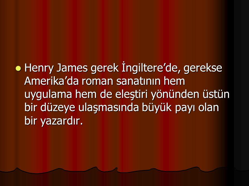 Henry James gerek İngiltere'de, gerekse Amerika'da roman sanatının hem uygulama hem de eleştiri yönünden üstün bir düzeye ulaşmasında büyük payı olan bir yazardır.