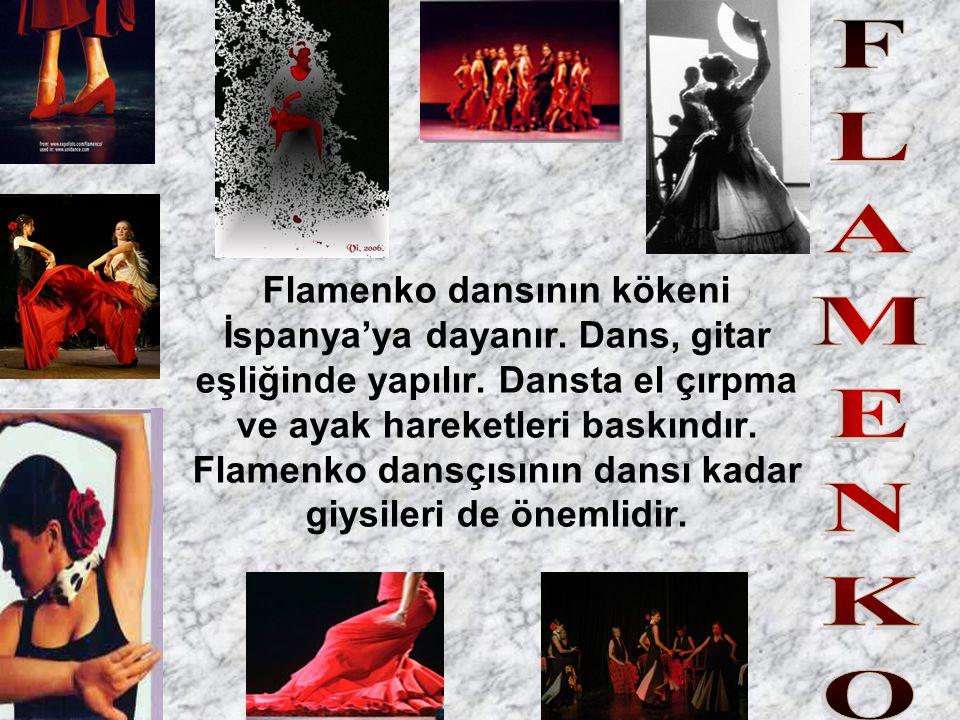 Flamenko dansının kökeni İspanya'ya dayanır